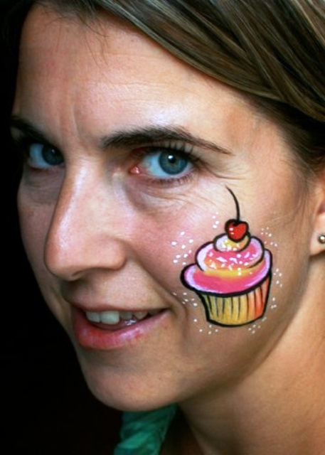 Cheek Face Painting
