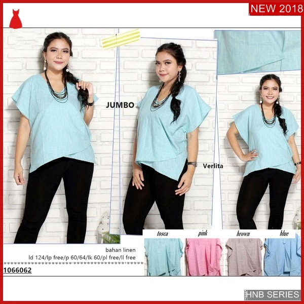 HNB081 Model Hiroku Blouse Ukuran Besar Jumbo Modis BMG Shop