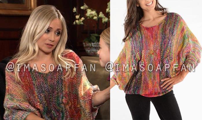 Lulu Spencer Falconeri, Emme Rylan, Ombre Rainbow Sweater, General Hospital, GH