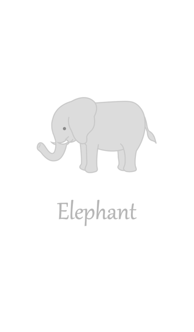 Cute simple elephant