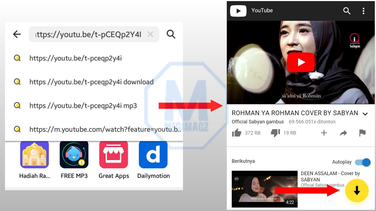 cara download video dari youtube agar tersimpan ke galeri