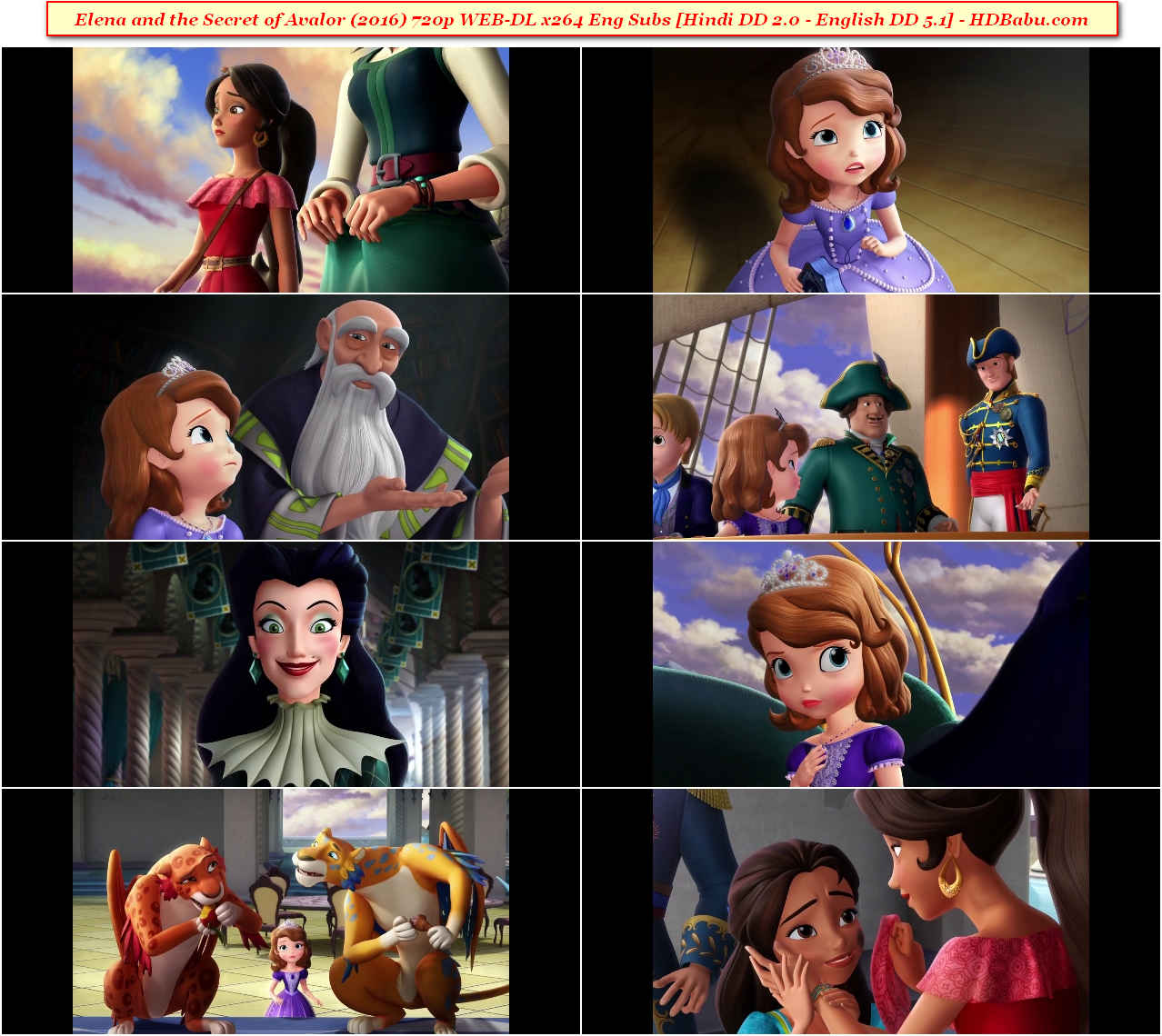 Elena and the Secret of Avalor Hindi Dual Audio Full Movie Download 720p Blu-Ray