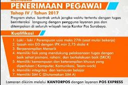 Penerimaan Pegawai Tahap IV PT Pos Indonesia (Persero)