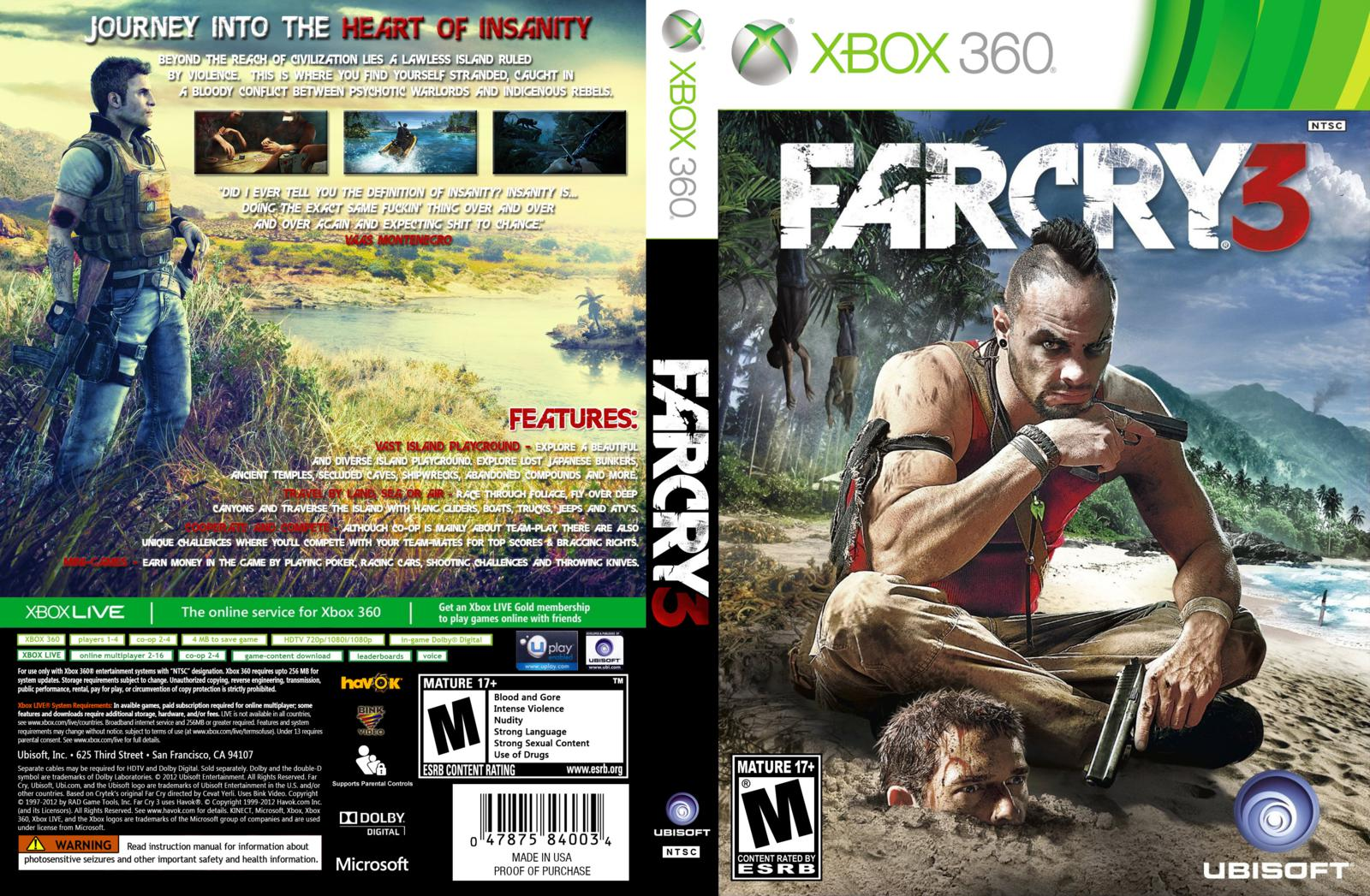 Capa Farcry 3 Xbox 360 - Gamecover | Capas customizadas ...