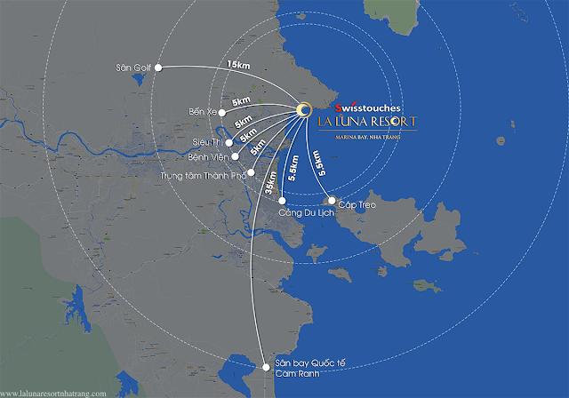 vị trí dự án La Luna Nha Trang