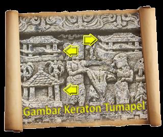 satu relief di Candi Jago - Malang