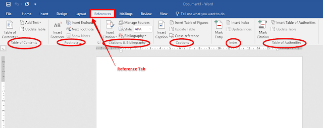 Reference tab in ms word | Citation,Bibliography,Reference | Ms Word 2016 |