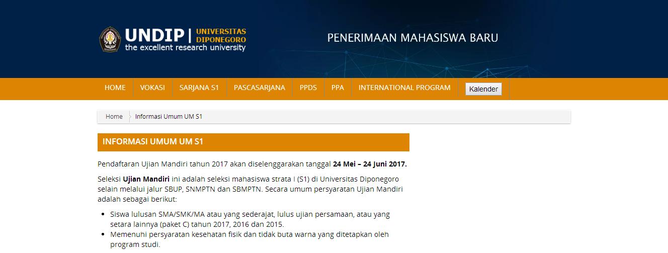 Top Soal Ujian Mandiri Universitas Diponegoro Undip 2007 2016 Terlengkap Geniusmart