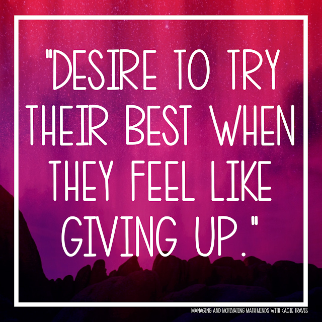 Lord, give my students desire to try their best when they feel like giving up.