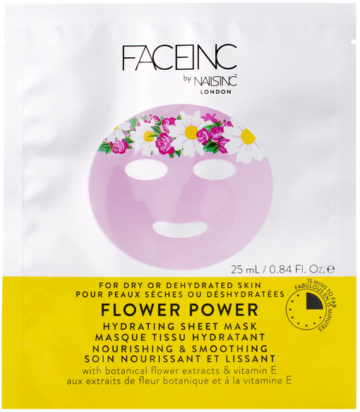 faceinc by nails inc Flower power hydrating sheet mask