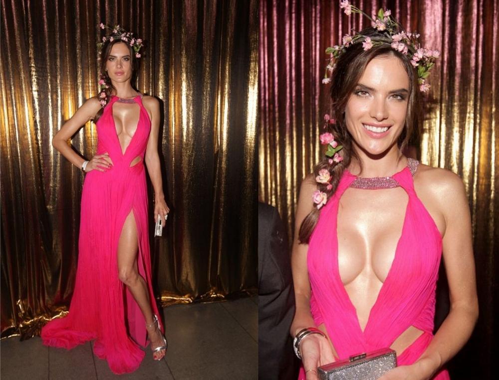 Alessandra ambrosio wearing roberto cavalli vogue brazil tropical theme gala