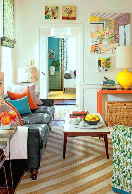 Dekorasi untuk ruang keluarga sempit