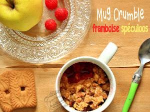 Mug crumble pomme framboise et spéculoos {facile et rapide}