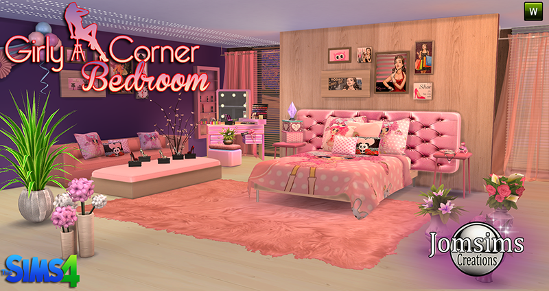 Captivating Girly Corner Bedroom Set By JomSims