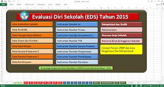 Tampilan awal aplikasi EDS SMP 2015