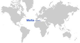 image: Peta letak Malta