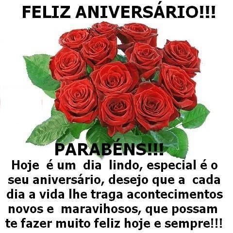 Belas Frases De Amor Feliz Aniversário Parabéns Hoje é Um