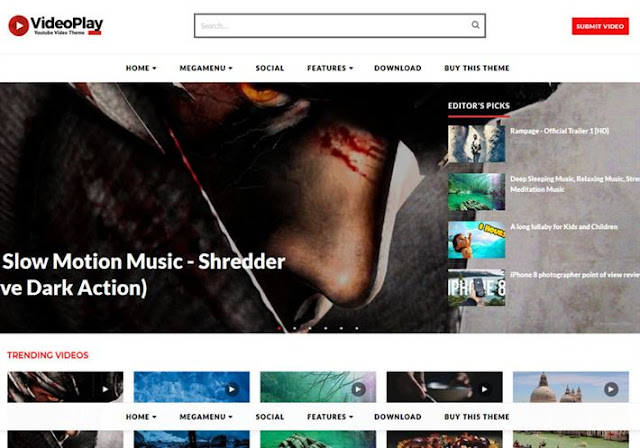 VideoPlay Blogger Theme