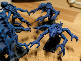 Genestealers primed black and zenithal blue