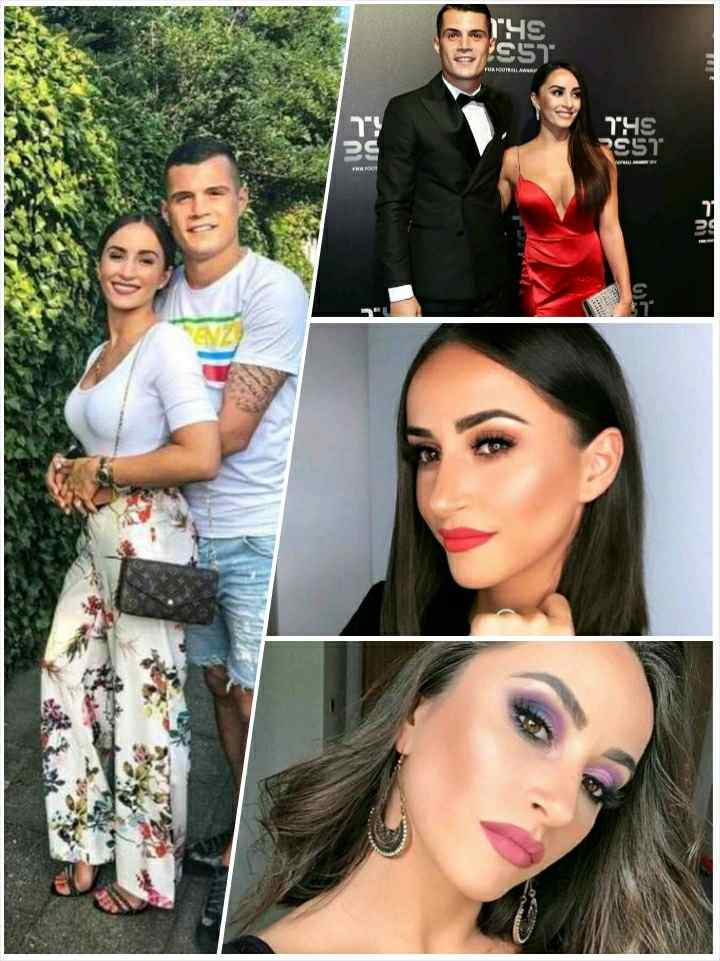 Leonita Lekaj and Granit Xhaka