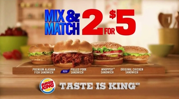 news burger king two for 5 mix and match deal returns brand eating