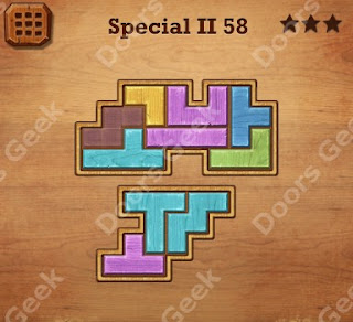 Cheats, Solutions, Walkthrough for Wood Block Puzzle Special II Level 58
