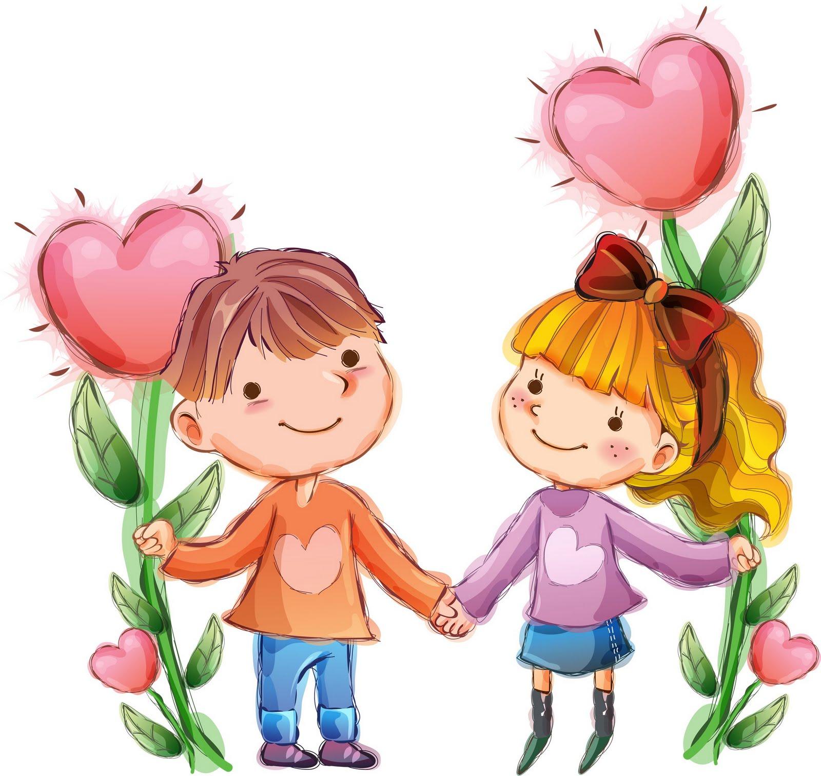 Imagenes De Personas Felices Para Colorear: Dibujos A Color ♥: ♥ Dibujos De Niños San Valentin ♥