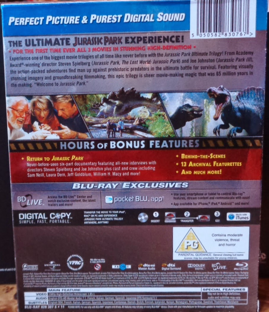 Movies on DVD and Blu-ray: Jurassic Park (1993)