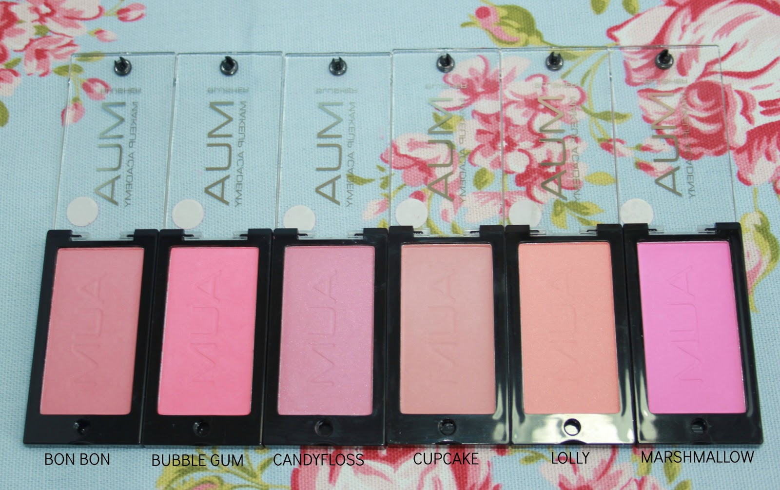 MUA POWDER BLUSHER SWATCHES 2013