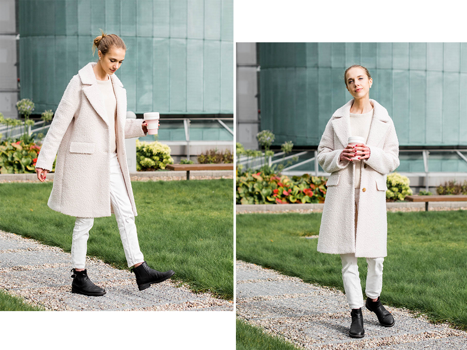 How to wear all white in winter - Kuinka pukeutua kokovalkoiseen talvella