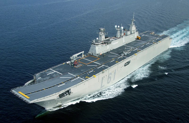 Top 10 Largest Aircraft Carriers in The WorldSpanish Aircraft Carrier Juan Carlos