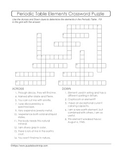 elements crossword puzzle
