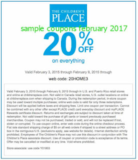 Childrens Place coupons february 2017