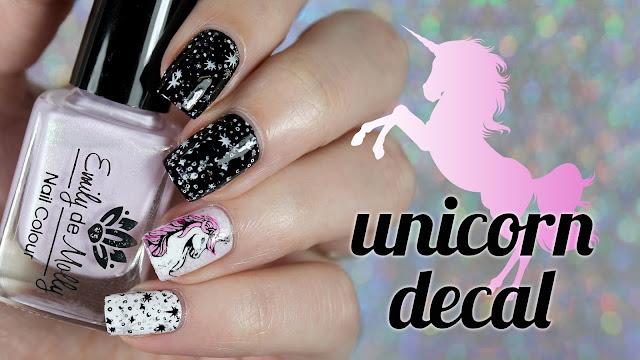 Unicorn Decal Nail Art