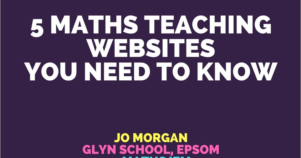 Websites5 on Resourceaholic Maths Gems