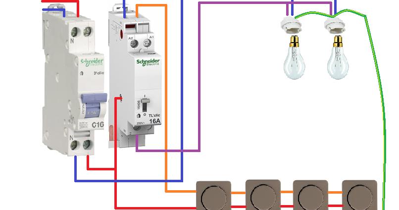 Installation t l rupteur unipolaire schneider schema - Schema electrique refrigerateur no frost ...