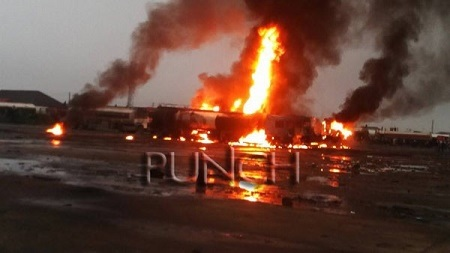 Over 50 Tankers Razed by Fire Outbreak in Delta (Photo)
