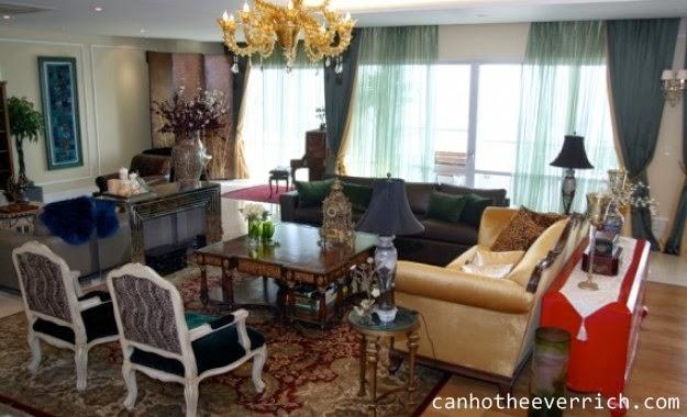 Phòng khách căn hộ Penhouse Everrich
