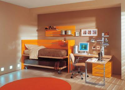 brown-and-orange-color-bedroom-in-the-interior-design-ideas