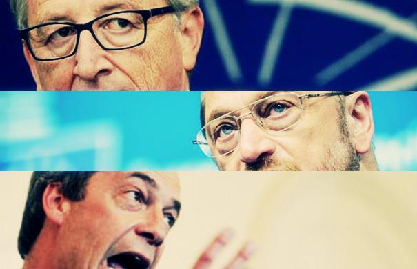 Γιούνκερ, Σουλτς, Φάρατζ αντάλλαξαν πολύ βαριές εκφράσεις στο Ευρωκοινοβούλιο