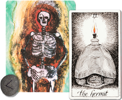 The Hermit The wild Unknown Tarot Soulcards 2 Kenaz runes