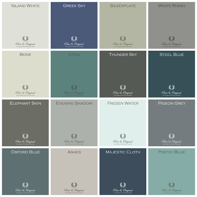 pure and original classico paint, paint colors, best paint colors from pure and original, best paint colors, paint chart, pure and original paint chart