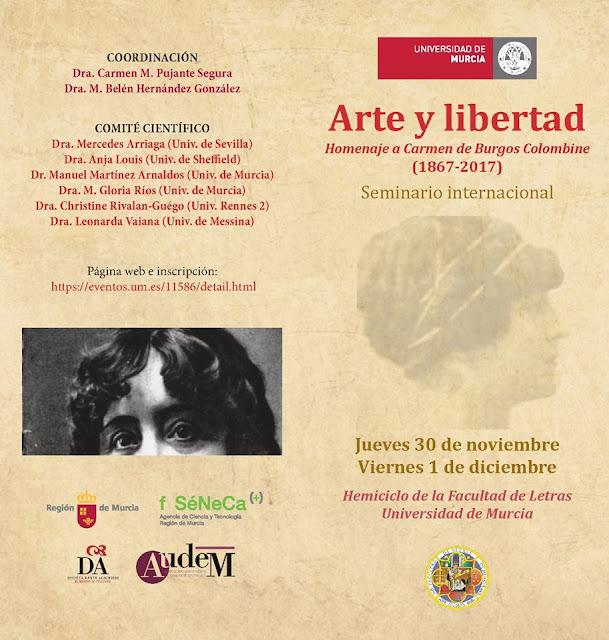 """Arte y libertad"". Homenaje a Carmen de Burgos ""Colombine"" (1867-2017)"