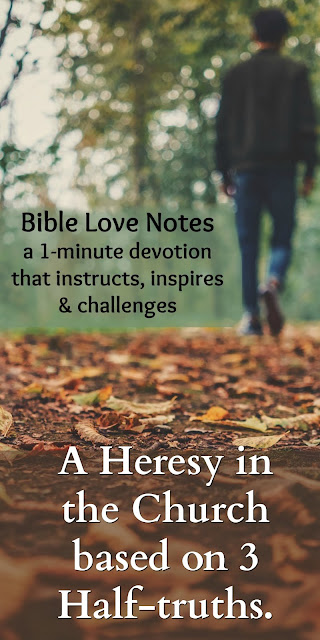 The heresy Paul addresses in Romans 6 is also prevalent today. This 1-minute devotion explains. #BibleLoveNotes #Bible