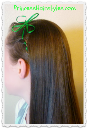 4 leaf clover ribbon headband tutorial