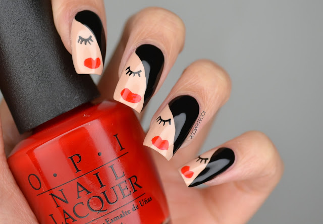 Female Nail Art OPI California Dreaming