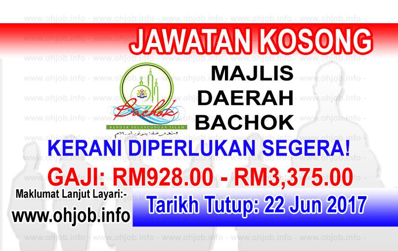 Jawatan Kerja Kosong Majlis Daerah Bachok logo www.ohjob.info jun 2017