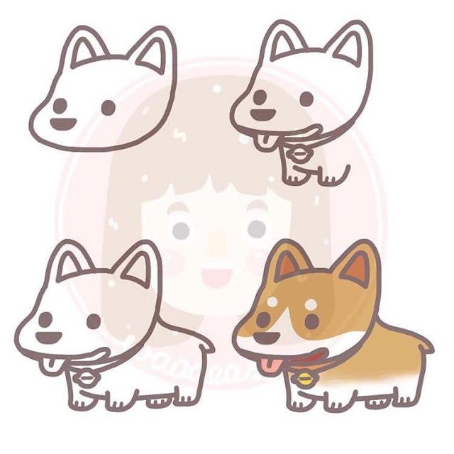 Cara menggambar anjing untuk anak-anak