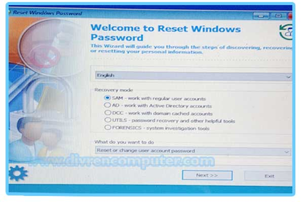 reset pasword windows