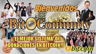 BitComunity el mejor sistema de envío de donaciones miembro a miembro